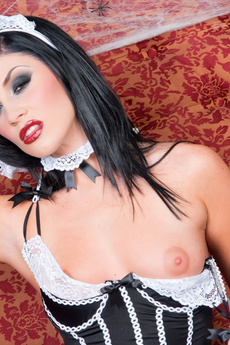 Brunette Dressed As A Gothic Maid
