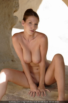 Busty Babe Agela Showing Her Perfect Body For Us In The Caves picture 11