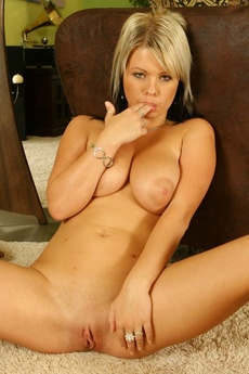 Busty Babe Strips picture 16