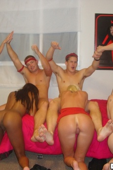 Sexy College Teens In Undies Get Fucked And Creamed In These Real Crazy College Party Fuck Pics picture 2