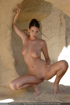 Busty Babe Agela Showing Her Perfect Body For Us In The Caves picture 7