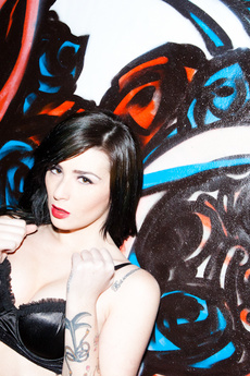 Emo Brunette Strips In Classic Car picture 9