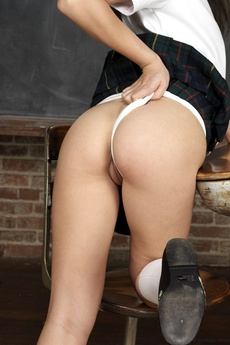 Cute Asian Schoolgirl Spreading picture 13