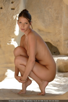 Busty Babe Agela Showing Her Perfect Body For Us In The Caves picture 9