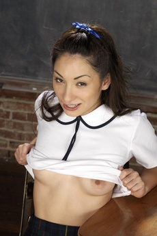 Cute Asian Schoolgirl Spreading picture 7