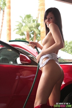 Catie Minx Red Shorts picture 14