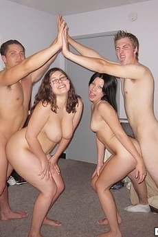 2 Hot Naked College Teens Jerk Off A Guy Then Suck And Get Fucked In These Hot Real Party Dorm Room Sex Pics picture 4
