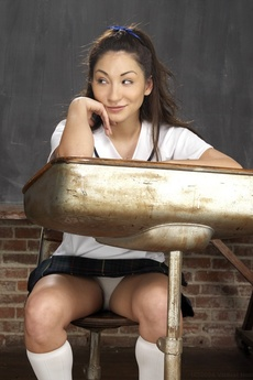 Cute Asian Schoolgirl Spreading picture 2