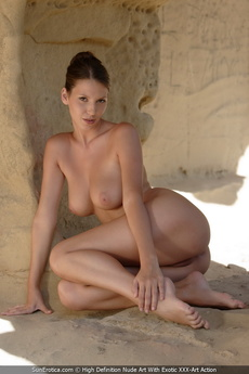 Busty Babe Agela Showing Her Perfect Body For Us In The Caves picture 3