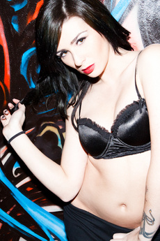 Emo Brunette Strips In Classic Car picture 8