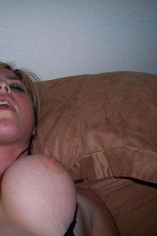 Naughty Busty Blonde Sucking On A Dick picture 5