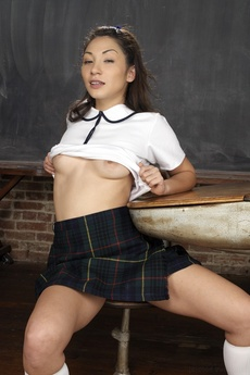 Cute Asian Schoolgirl Spreading picture 8