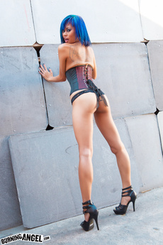 Asian Tattooed Girl Strips In An Alley Way picture 11