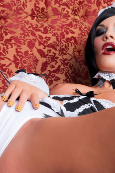 Brunette Dressed As A Gothic Maid picture 15