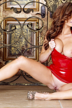 Perky Babe Emily Addison Red Latex picture 5