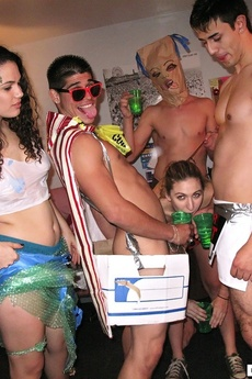 Sexy College Teens In Undies Get Fucked And Creamed In These Real Crazy College Party Fuck Pics picture 6