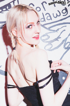 Skinny Emo Blonde Strips & Shows Off Small Tits picture 3