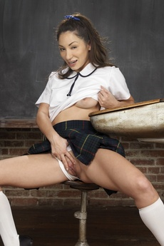 Cute Asian Schoolgirl Spreading picture 10