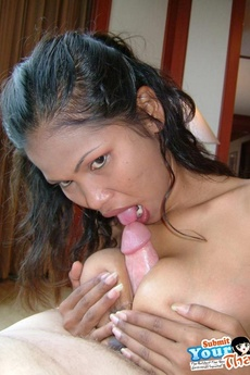 Big Tit Thai Gf Gives A Blowjob And Gets Tit Fucked picture 15
