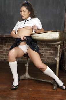 Cute Asian Schoolgirl Spreading picture 9