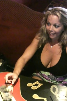 Amber Lynn Bach And Rachel Aziani Have Fun Flashing For The Camera At The Bar! picture 4