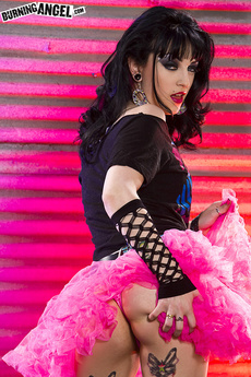 Tattooed Brunette Shows Off Panties And New Tutu picture 4