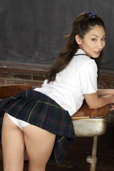 Cute Asian Schoolgirl Spreading picture 14